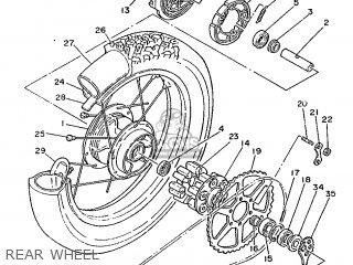 yamaha xt350 1986 55v france 2655v 351f1 parts lists and schematics 1985 Yamaha XT 350 yamaha xt350 1986 55v france 2655v 351f1 rear wheel