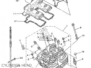 yamaha xt350 1991 3yt2 spain 213yt-352s1 cylinder head