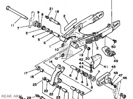 yamaha xt350 dual purpose 1985  f  usa parts lists and