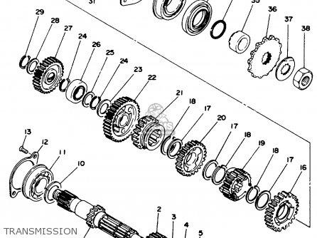 yamaha xt500f 1979 parts list partsmanual partsfiche