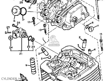 Yamaha XT550 DUAL PURPOSE 1983 (D) USA parts lists and