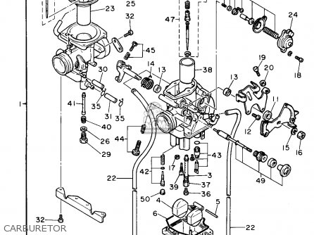 Yamaha Xt E L Usa Carburetor Mediumyau B D on yamaha enduro headlight switch diagram