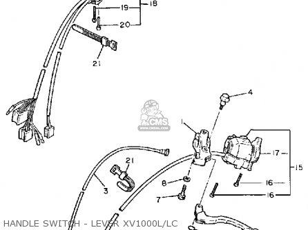 yamaha xv1000 virago 1984 (e) usa parts list partsmanual ... 1995 yamaha virago 750 wiring diagram