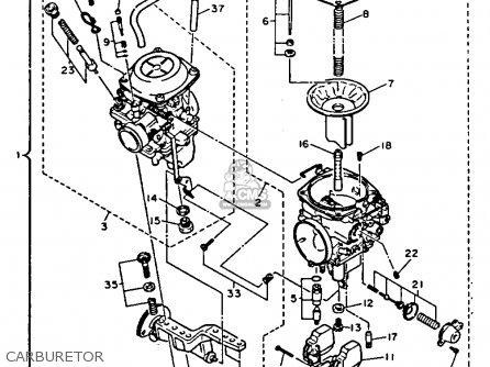 Yamaha xv1100dc virago 1992 parts list partsmanual partsfiche for Yamaha virago 1100 carburetor adjustment