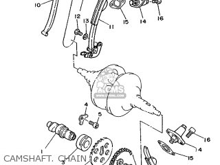 Yamaha Xv240 1989 3kf1 France 293kf-351f1 Camshaft  Chain