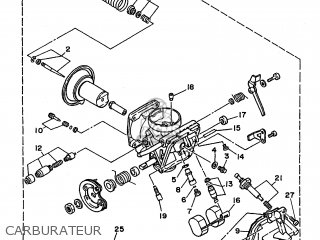 Yamaha Xv240 1989 3kf1 France 293kf-351f1 Carburateur
