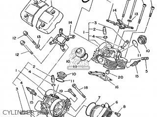 Yamaha Xv240 1989 3kf1 France 293kf-351f1 Cylinder Head