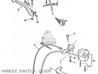 Yamaha Xv240 1989 3kf1 France 293kf-351f1 Handle Switch  Lever