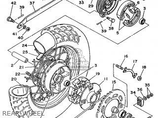 Yamaha Xv240 1989 3kf1 France 293kf-351f1 Rear Wheel
