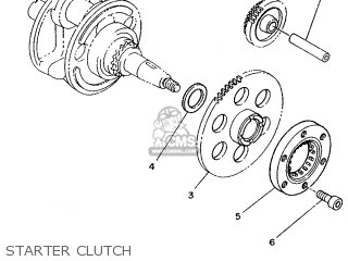 Yamaha Xv240 1989 3kf1 France 293kf-351f1 Starter Clutch
