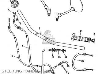 Yamaha Xv240 1989 3kf1 France 293kf-351f1 Steering Handle  Cable