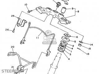 Yamaha Xv240 1989 3kf1 France 293kf-351f1 Steering