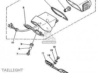 Yamaha Xv240 1989 3kf1 France 293kf-351f1 Taillight