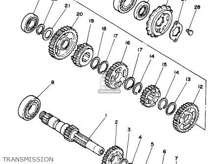 yamaha xv250 1997  v  usa parts list partsmanual partsfiche