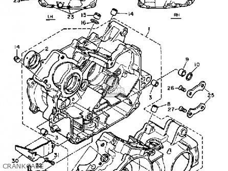 Yamaha Xv500k Virago 1983 Crankcase