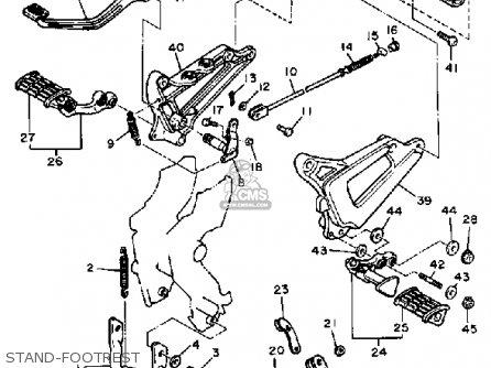 Yamaha Xv500k Virago 1983 Stand-footrest