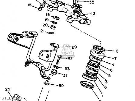 Yamaha Xv500k Virago 1983 Steering