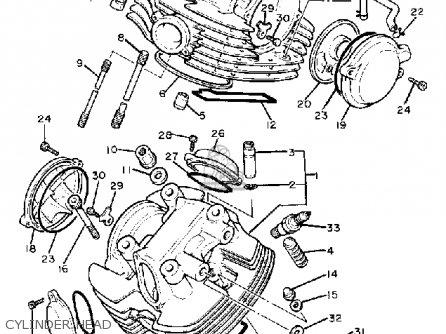 Yamaha Xv Virago C Usa Cylinder Head Mediumyau A Cf on Yamaha Virago 750 Carburetor Diagram