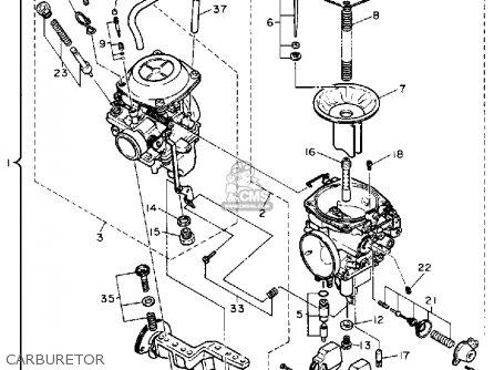Yamaha xv750a virago 1990 parts list partsmanual partsfiche for Yamaha virago 1100 carburetor adjustment