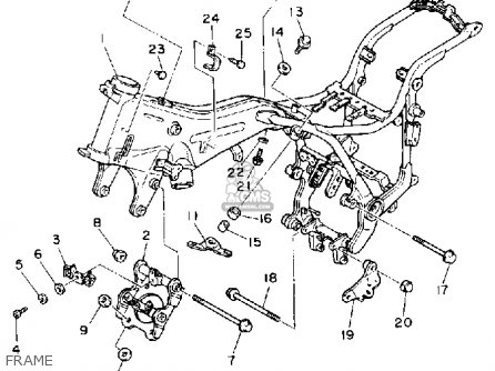 1988 Virago 750 Engine Diagram