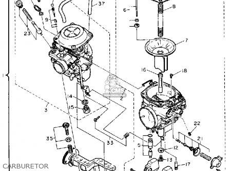 Yamaha Xv750c Virago 1989 k California Carburetor