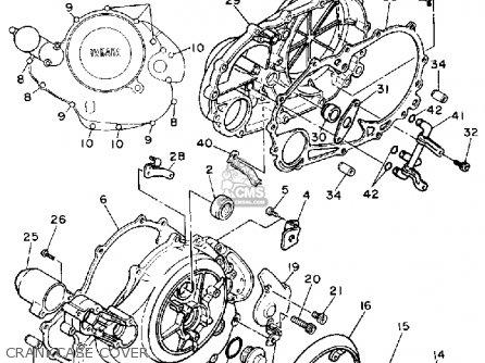 Yamaha Xv750c Virago 1989 k California Crankcase Cover