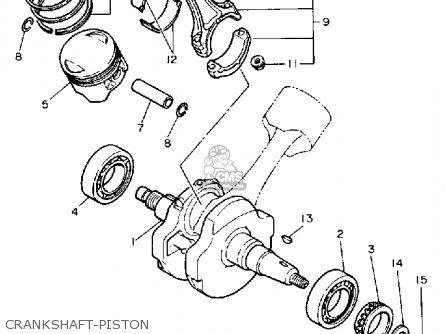 Yamaha Xv750c Virago 1989 k California Crankshaft-piston