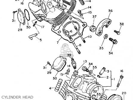Yamaha Xv750c Virago 1989 k California Cylinder Head