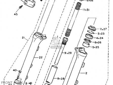 Yamaha Xv750c Virago 1989 k California Front Fork