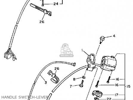 Yamaha Xv750c Virago 1989 k California Handle Switch-lever