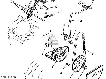 Yamaha Xv750c Virago 1989 k California Oil Pump