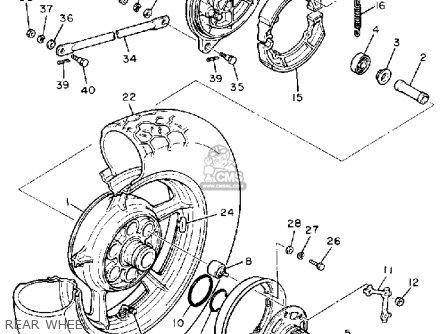 Yamaha Xv750c Virago 1989 k California Rear Wheel