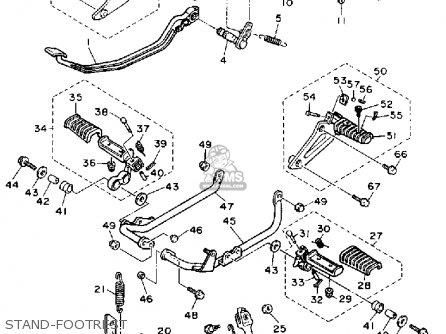Yamaha Xv750c Virago 1989 k California Stand-footrest
