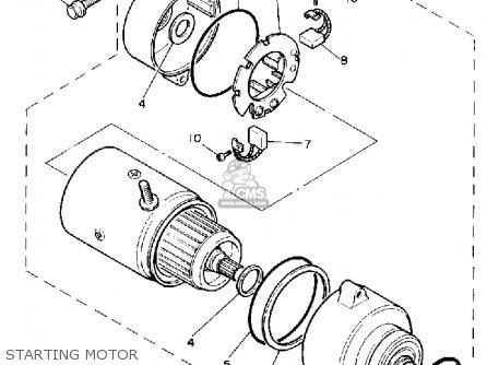 Yamaha Xv750c Virago 1989 k California Starting Motor
