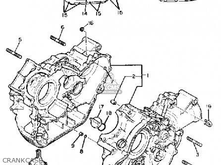 Yamaha Xv920m Virago 1983 d Usa Crankcase