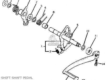 Yamaha Xv920m Virago 1983 d Usa Shift Shaft Pedal