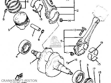Yamaha Xv920mk 1983 Crankshaft-piston