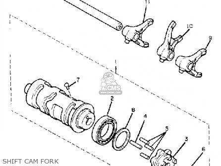 Yamaha Xv920mk 1983 Shift Cam Fork