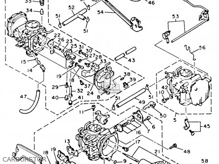 Yamaha Xvz12td Venture Royale 1983 d Usa Carburetor