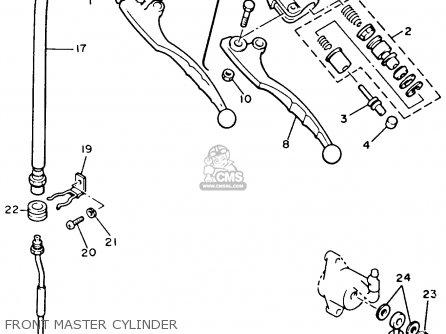 Yamaha Xvz12td Venture Royale 1983 d Usa Front Master Cylinder