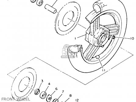 Yamaha Xvz12td Venture Royale 1983 d Usa Front Wheel