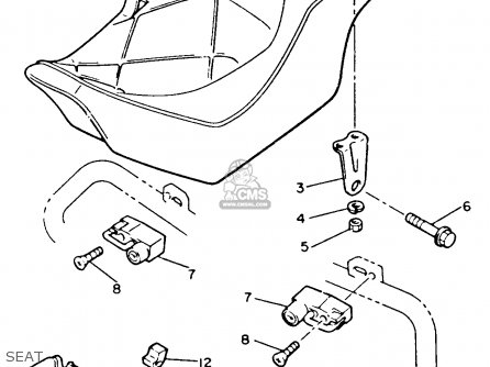 Yamaha Xvz12td Venture Royale 1983 d Usa Seat