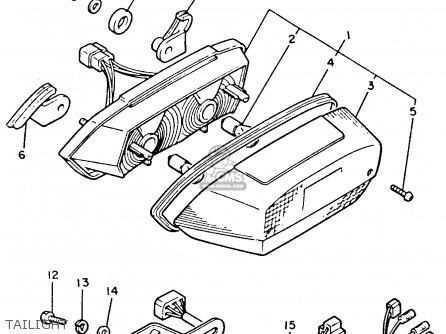 Yamaha Xvz12td Venture Royale 1983 d Usa Tailight