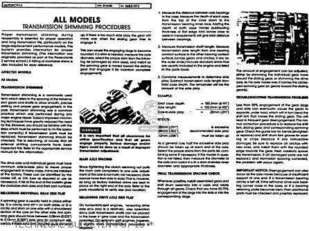 Yamaha Xvz12td Venture Royale 1983 d Usa   Technical Bulletin Pg  15