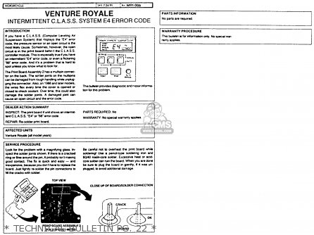Yamaha Xvz12td Venture Royale 1983 d Usa   Technical Bulletin Pg  22