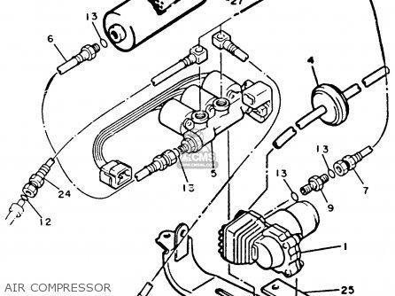 Yamaha Xvz12tdk Venture Royale 1983 Air Compressor