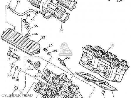 Yamaha Xvz12tdk Venture Royale 1983 Cylinder Head
