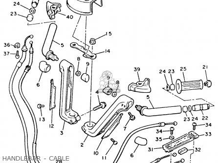Yamaha Xvz12tdk Venture Royale 1983 Handlebar - Cable