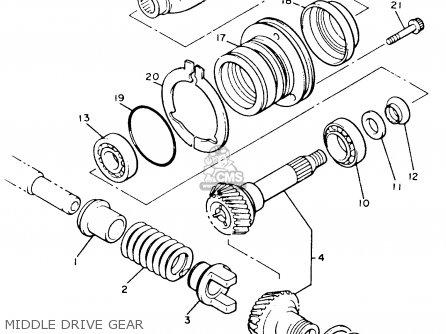 Yamaha Xvz12tdk Venture Royale 1983 Middle Drive Gear