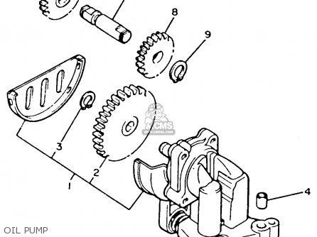 Yamaha Xvz12tdk Venture Royale 1983 Oil Pump